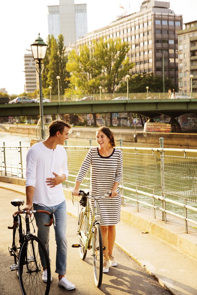Radfahren am Donaukanal / Grünes Wien