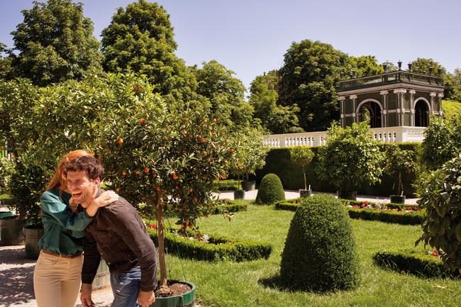 Im Schlosspark von Schönbrunn / Grünes Wien
