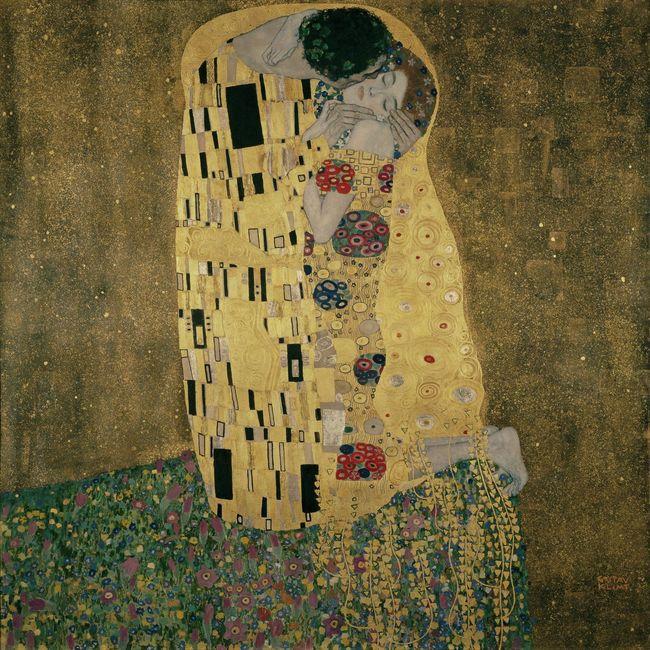 Gustav Klimt, Der Kuss / Große Meister