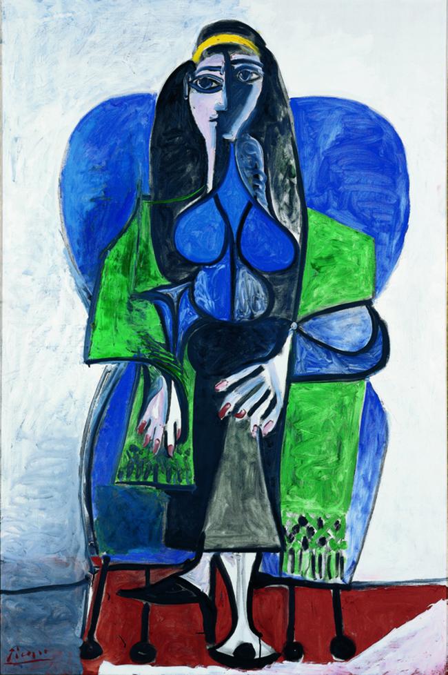 Pablo Picasso, Femme assise à l'écharpe verte, 1960 / mumok - MuseumsQuartier Wien