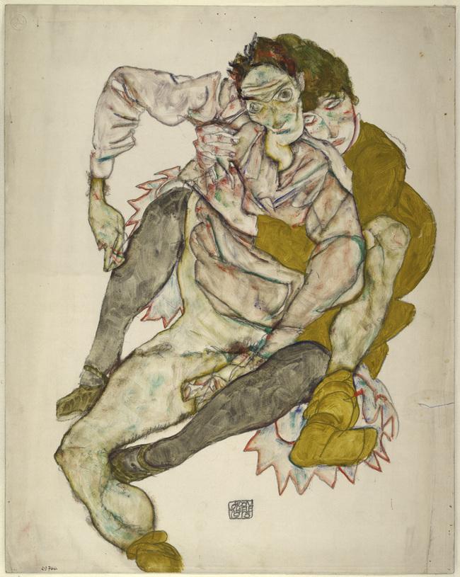 Egon Schiele, Sitzendes Paar / Albertina