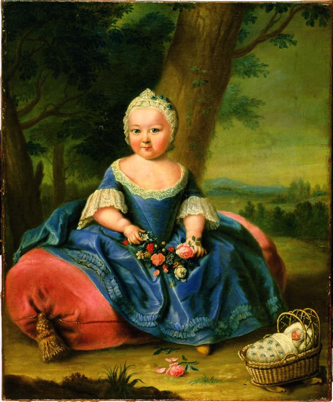 Erzherzogin Maria Theresia als dreijähriges Mädchen um 1720 / 300 Jahre Maria Theresia