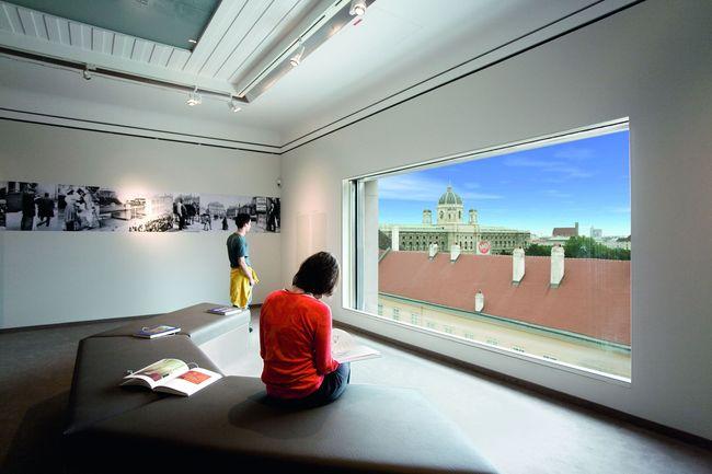 Panoramafenster LEOPOLD MUSEUM / LEOPOLD MUSEUM - MuseumsQuartier Wien