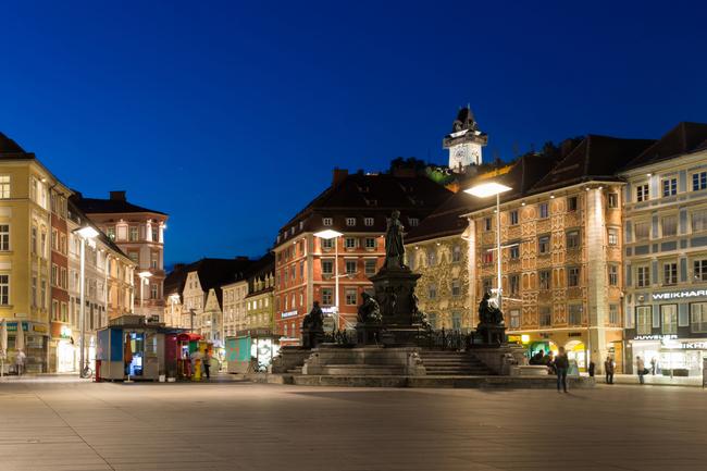 Hauptplatz / Graz im Dämmerlicht