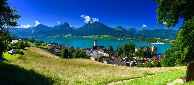 Blick auf St. Wolfgang / Salzkammergut  Tour